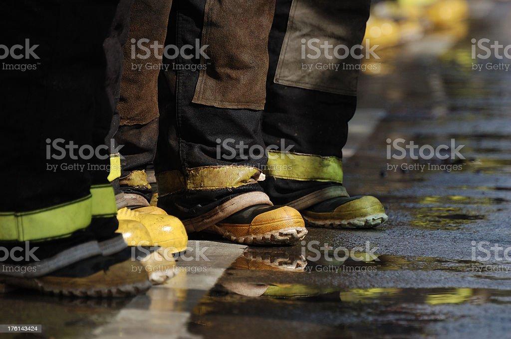 Feuerwehrleute-Detail – Foto