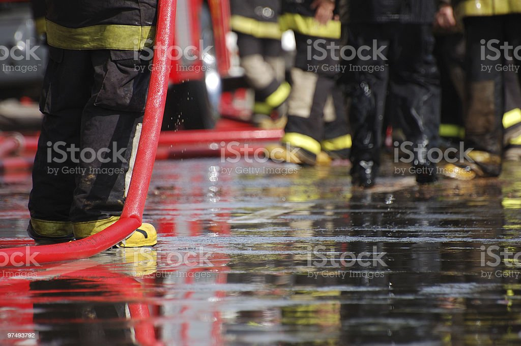 Firefighters Detail royalty-free stock photo