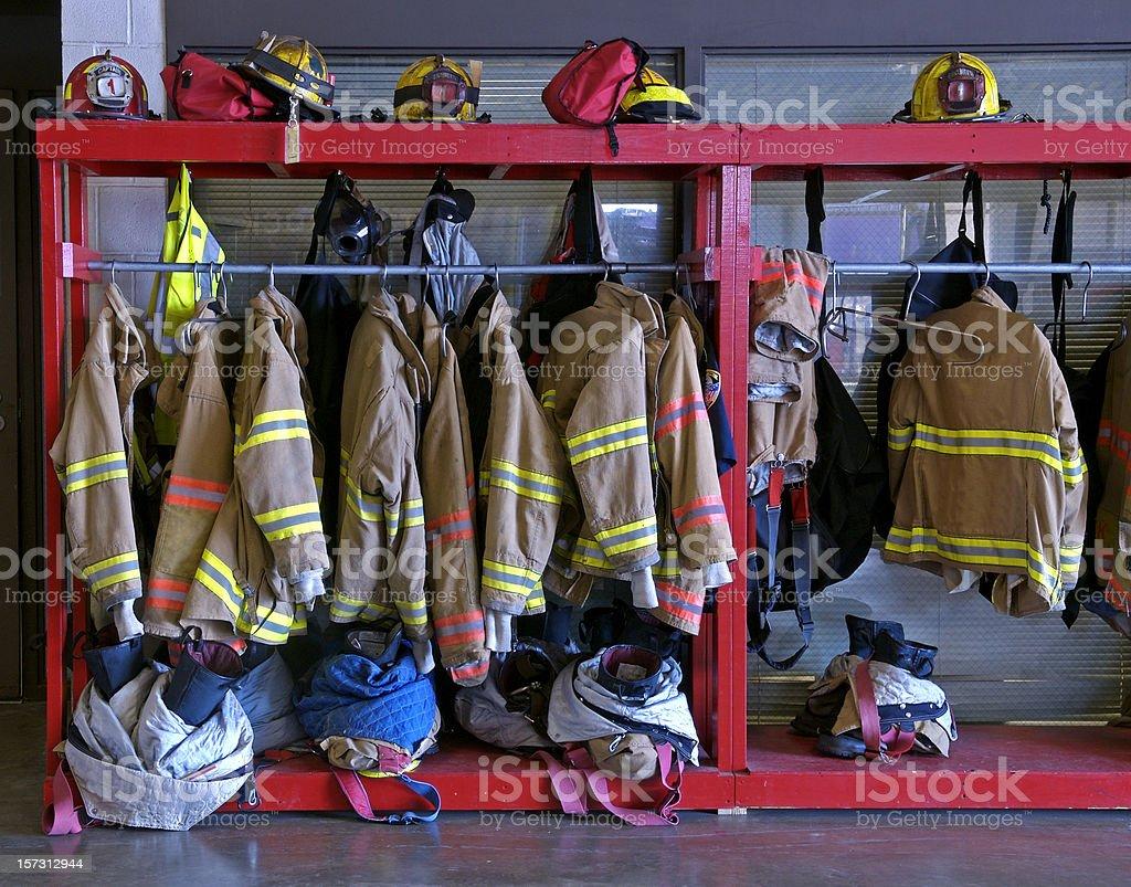 Firefighters' Gear stock photo