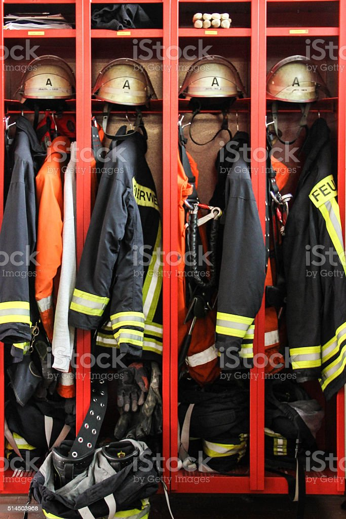 Firefighters Gear stock photo