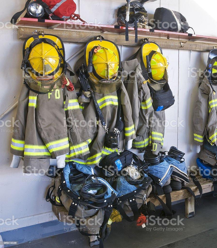Firefighters Gear stock photo