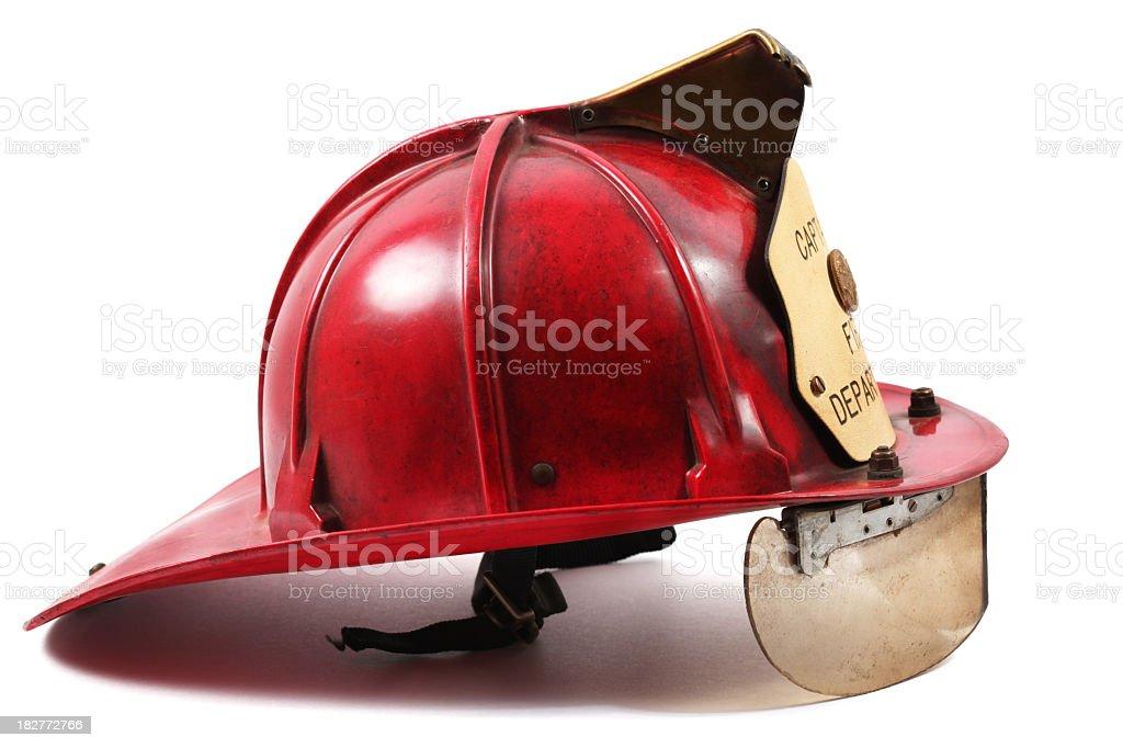 Firefighter's helmet stock photo