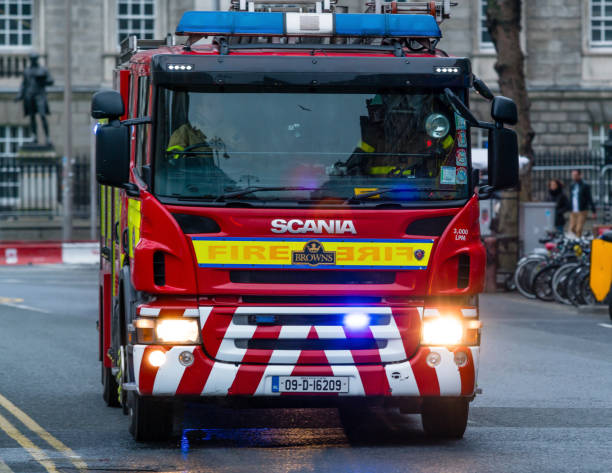 Firefighters in the vehicle, Dublin