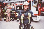 Firefighter's portrait