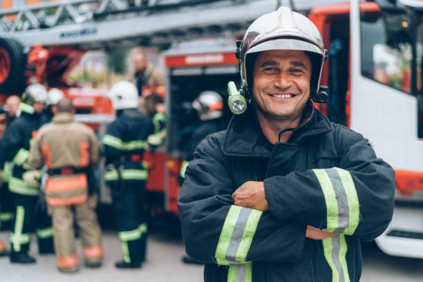 Firefighter's portrait - foto stock