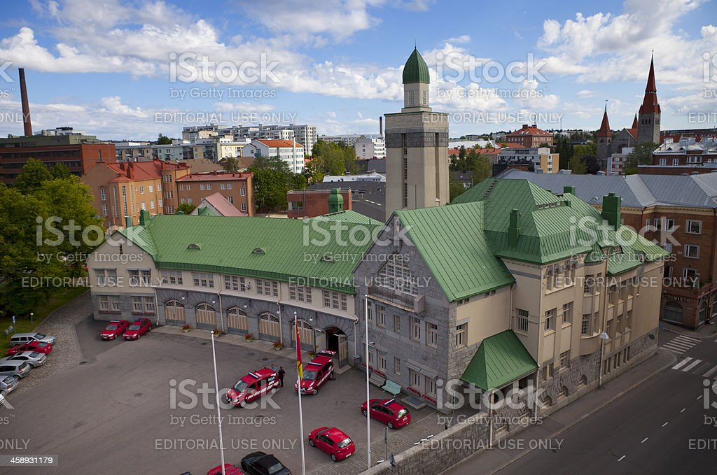 Firefighters Tampere Finland royalty-free stock photo