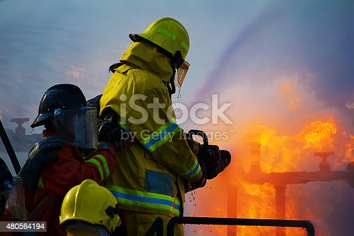 istock Firefighters training 480564194