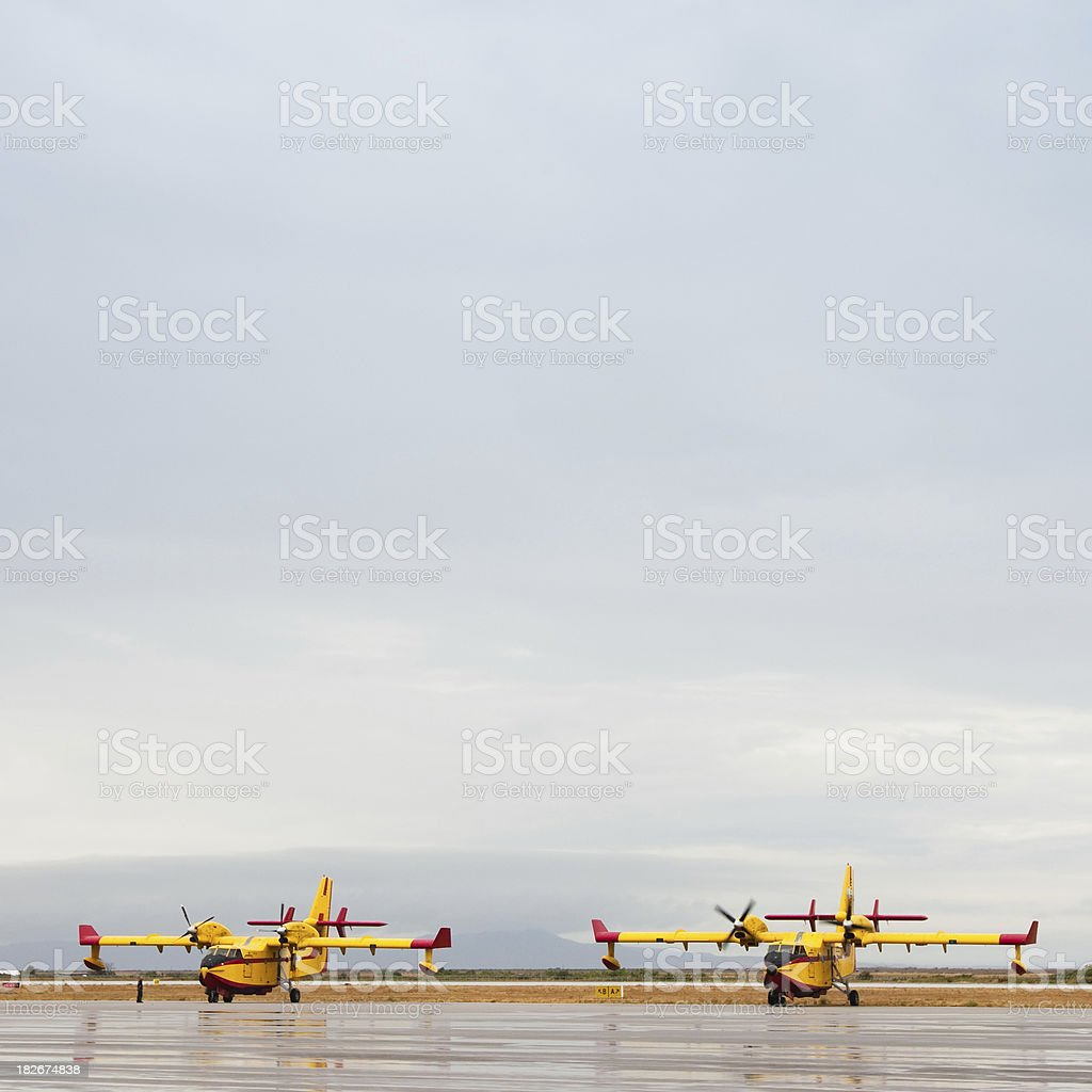 Firefighting  Aircrafts royalty-free stock photo