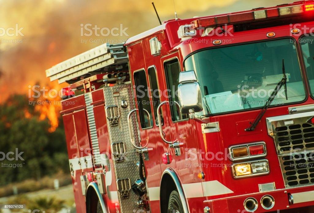 Brandbekämpning Operations lastbil bildbanksfoto