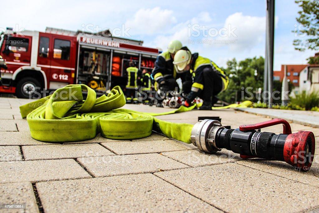 Feuerwehreinsatz bildbanksfoto