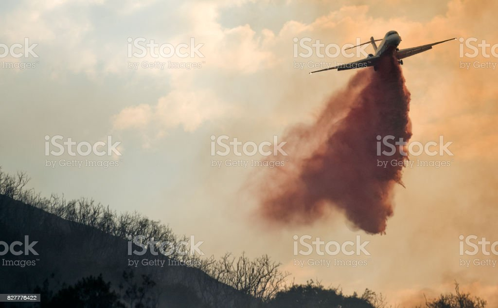 Firefighting Place Drop stock photo
