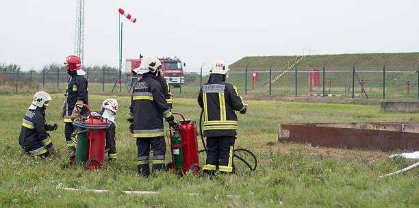 firefighting test successful - foto de stock