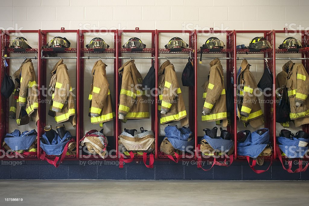 Firehouse Gear stock photo