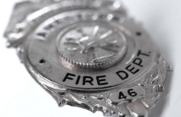 Fireman Badge stock photo