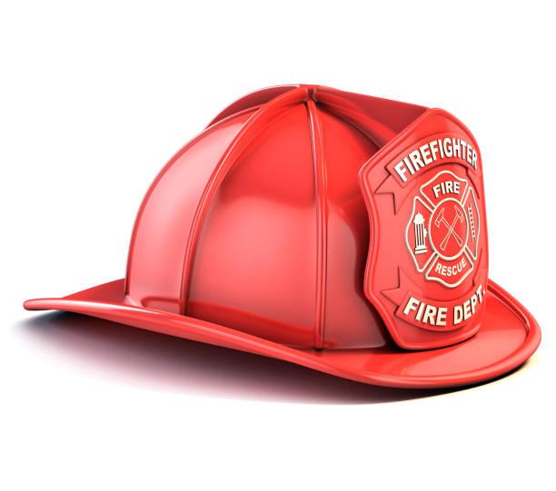 fireman helmet 3d isolated illustration stock photo