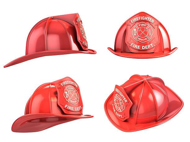 fireman helmet from various angles 3d illustration stock photo