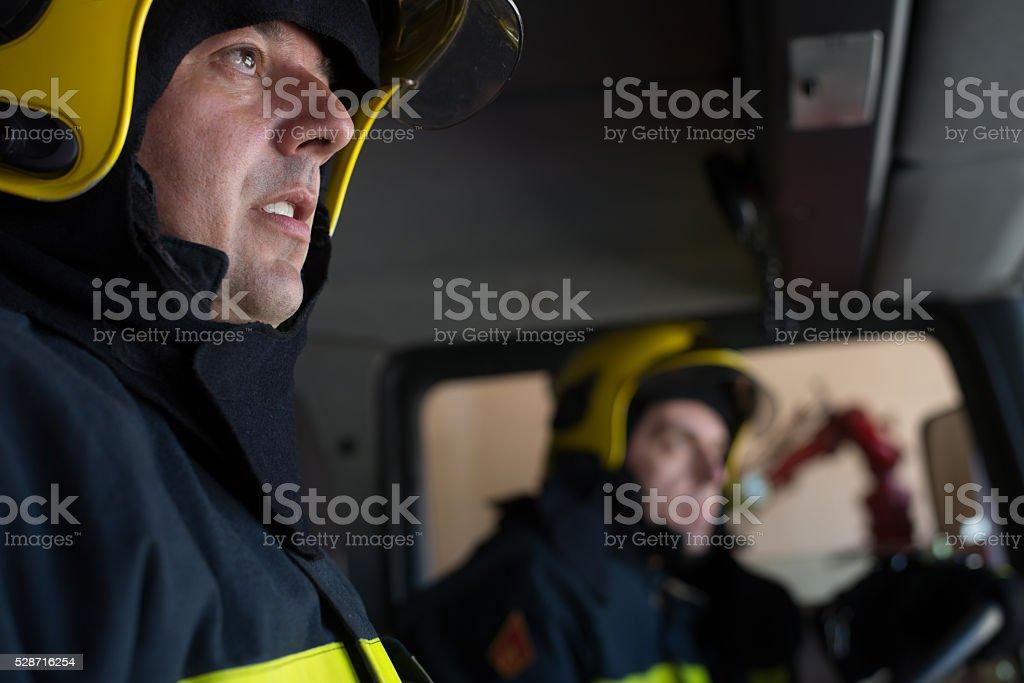 Fireman de prestaciones - foto de stock