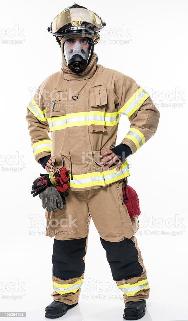 Fireman (real people) stock photo