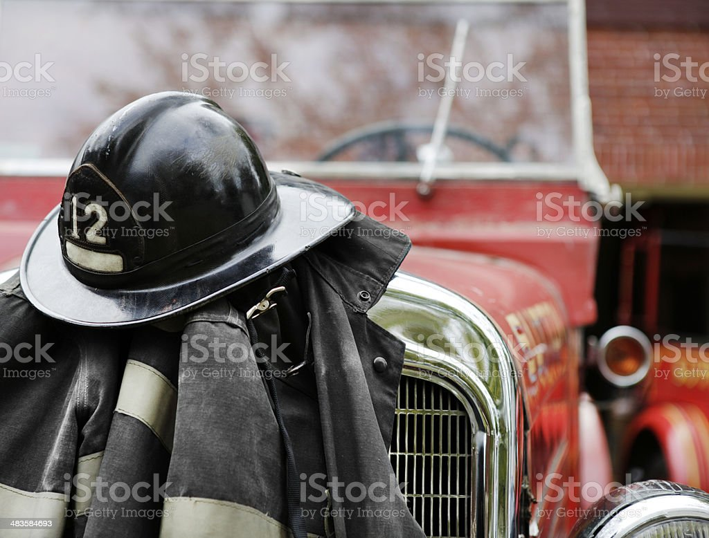 Fireman's Gear stock photo