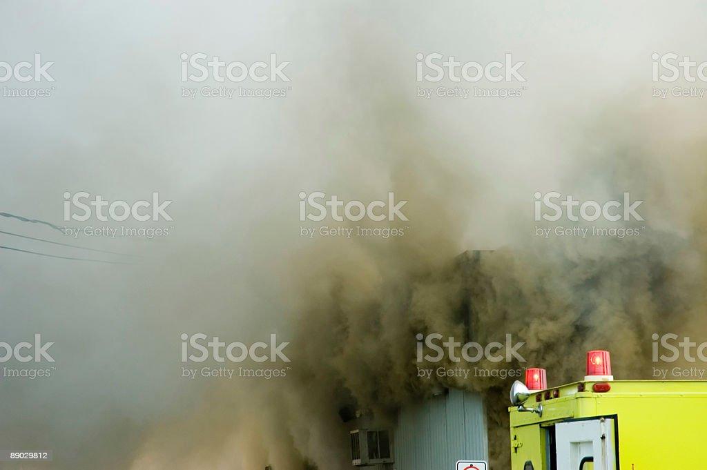 Firemen at work 8 royalty-free stock photo