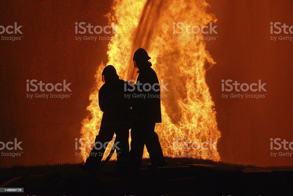 firemen at work royalty-free stock photo