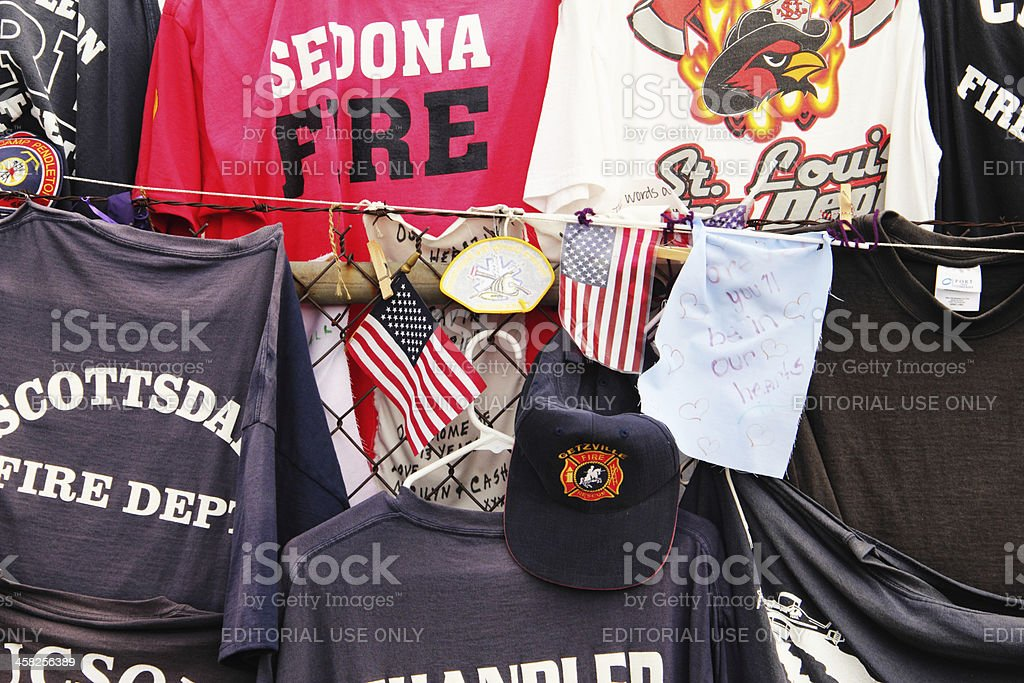 Firemen Hotshots Tee Shirts Memorial Prescott royalty-free stock photo