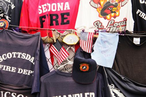 Firemen Hotshots Tee Shirts Memorial Prescott