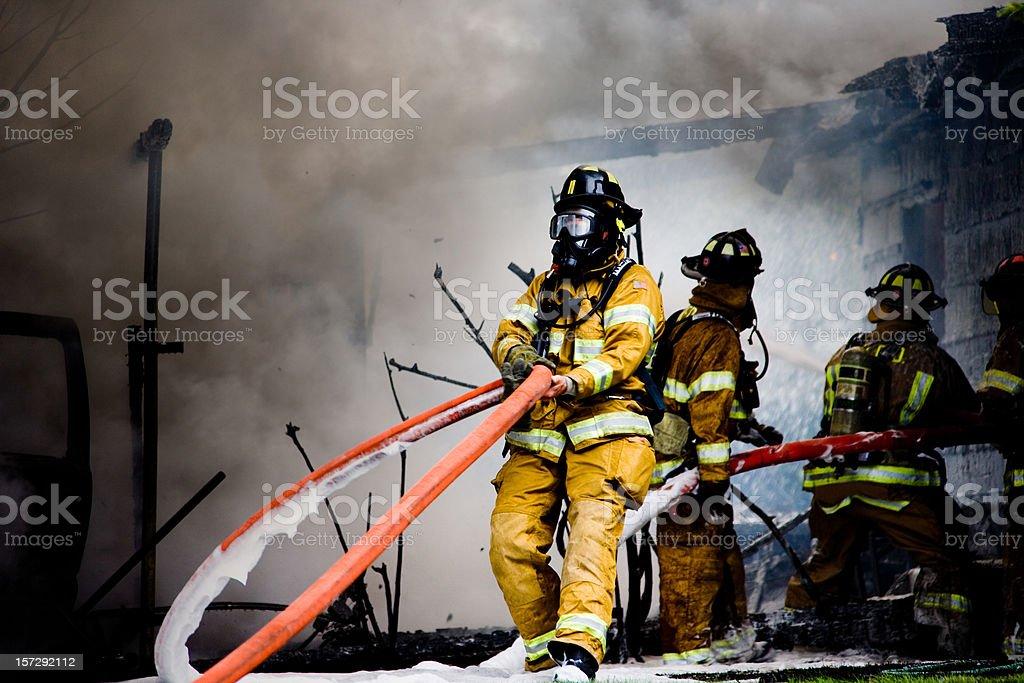 Firemen on Duty stock photo