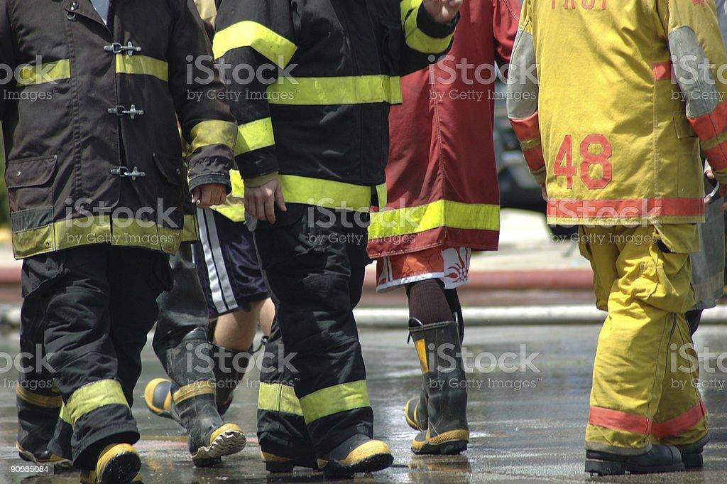Los bomberos - foto de stock