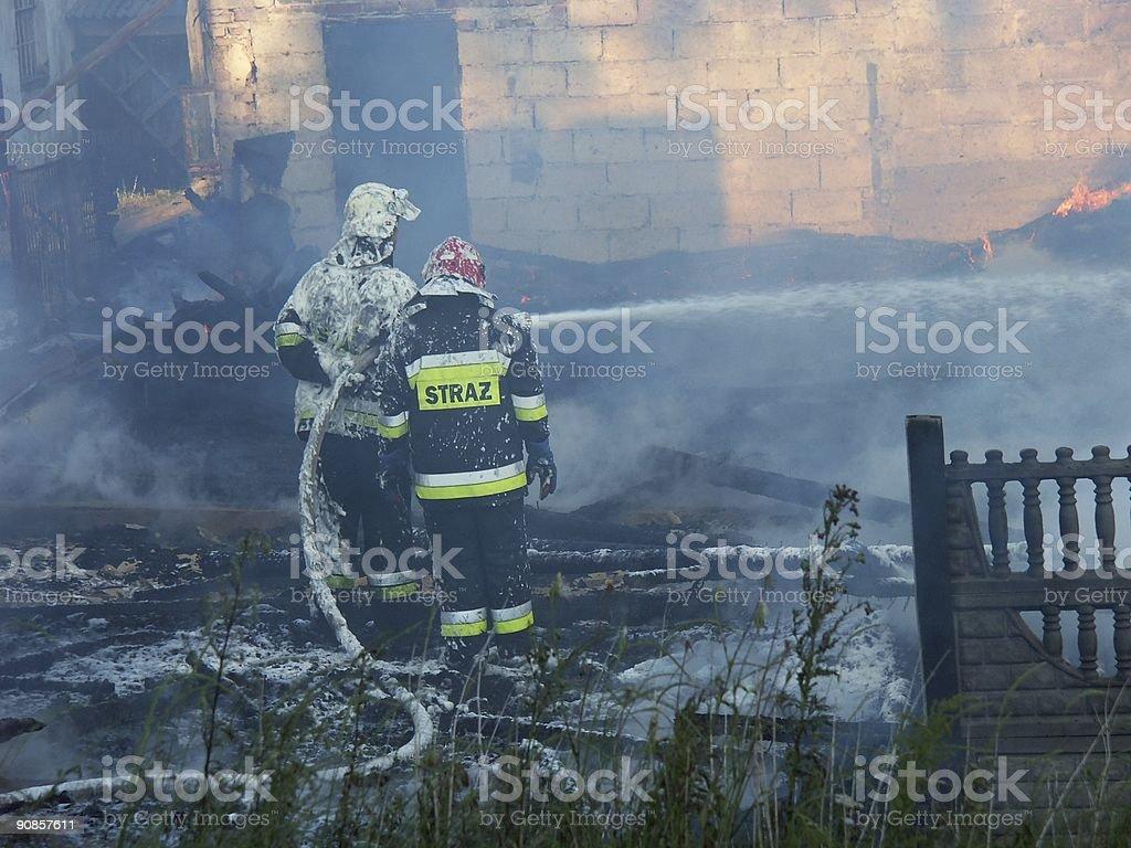 Firemen royalty-free stock photo