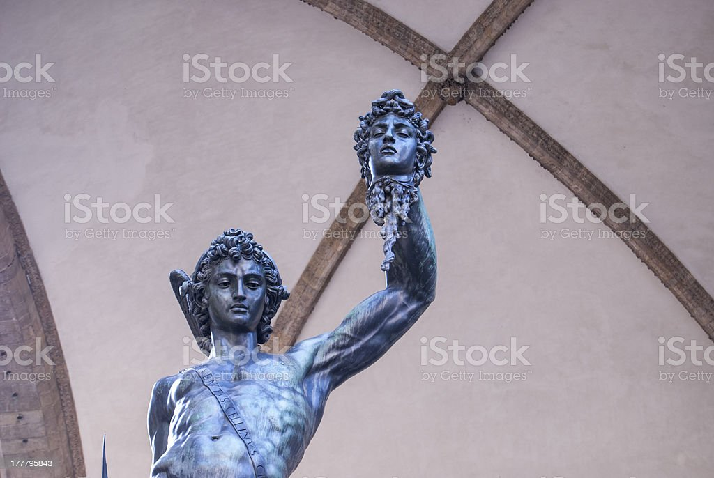 Firenze: Perseus with the head of Medusa stock photo