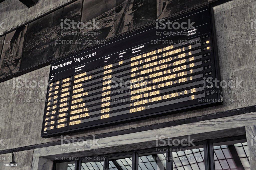 Firenze Santa Maria Novella - Departures board stock photo