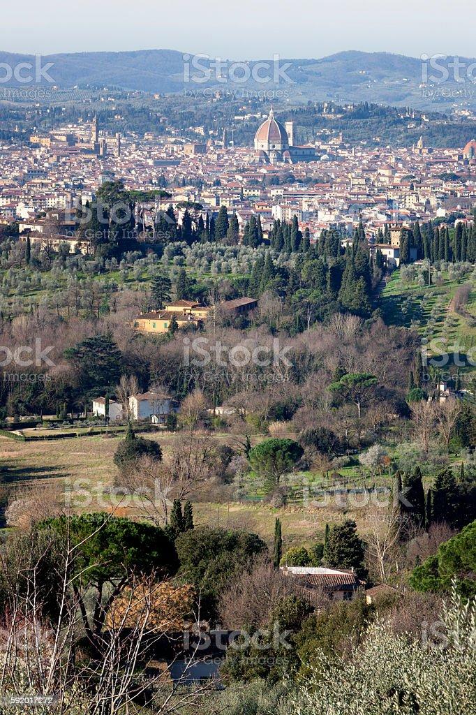 Firenze tra i colli stock photo