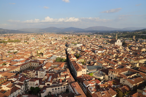피렌체 두오모 꼭대기에서 보기 0명에 대한 스톡 사진 및 기타 이미지