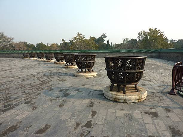 temple of heaven, peking - ein topf wunder stock-fotos und bilder