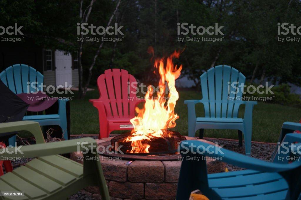 Firepit stock photo