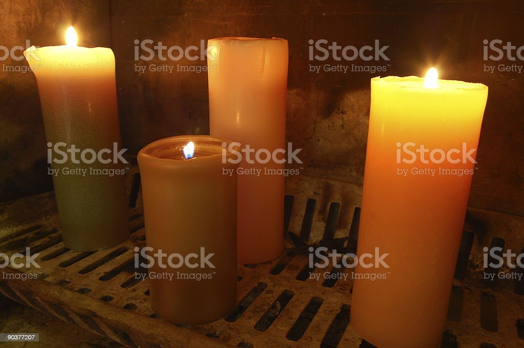 Fireplace Candles Stock Photo Download Image Now Istock