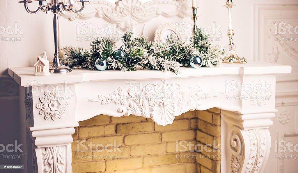 Kamin Dekoriert Zu Weihnachten Stockfoto Und Mehr Bilder Von Dekoration Istock
