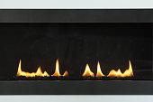 Fireplace flame home decor.