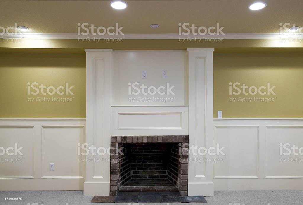 Fireplace Front View stock photo