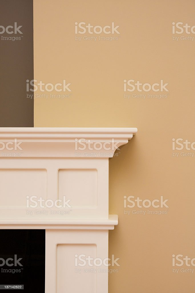Fireplace Mantle and Trim stock photo