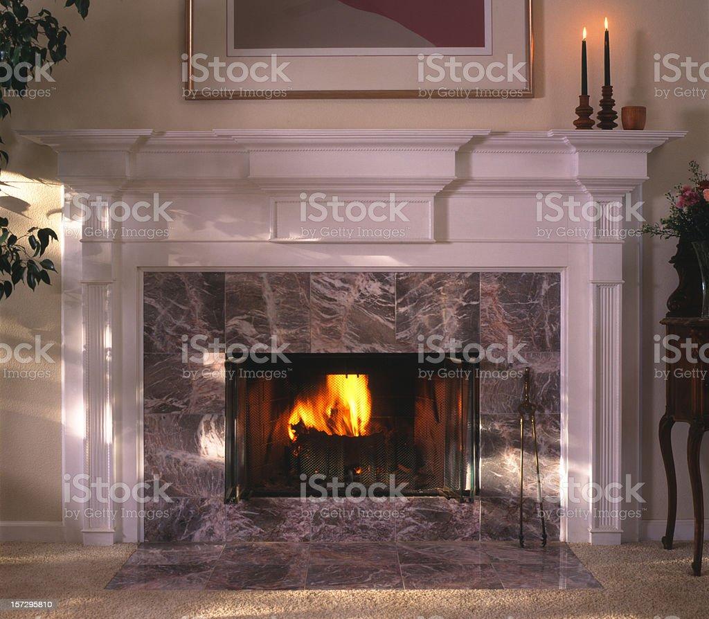 Fireplace royalty-free stock photo