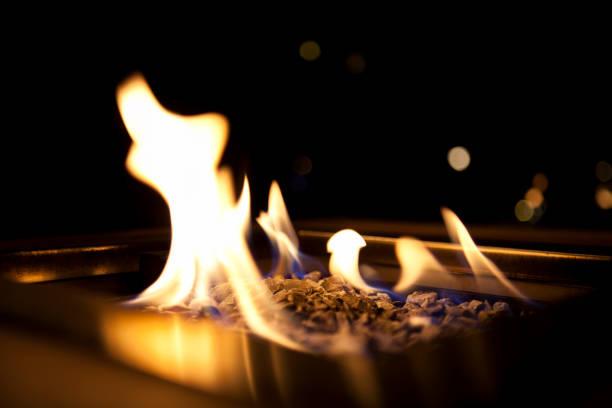 fireplace - gaskamin stock-fotos und bilder