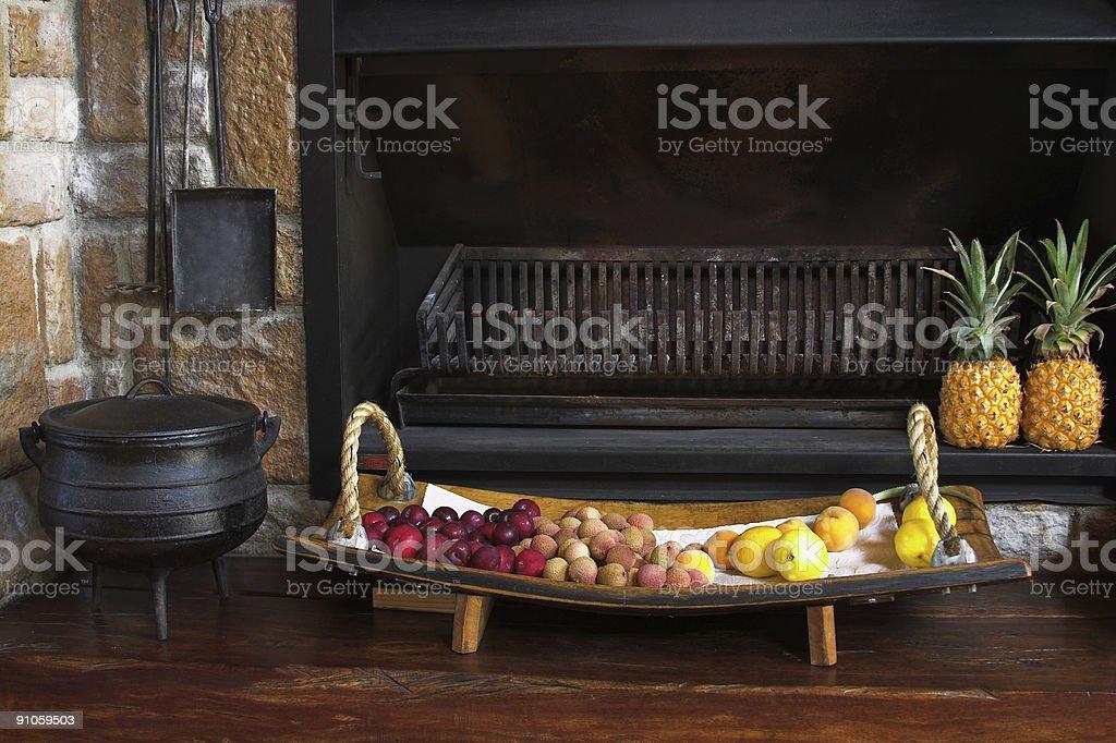 Fireplace. royalty-free stock photo