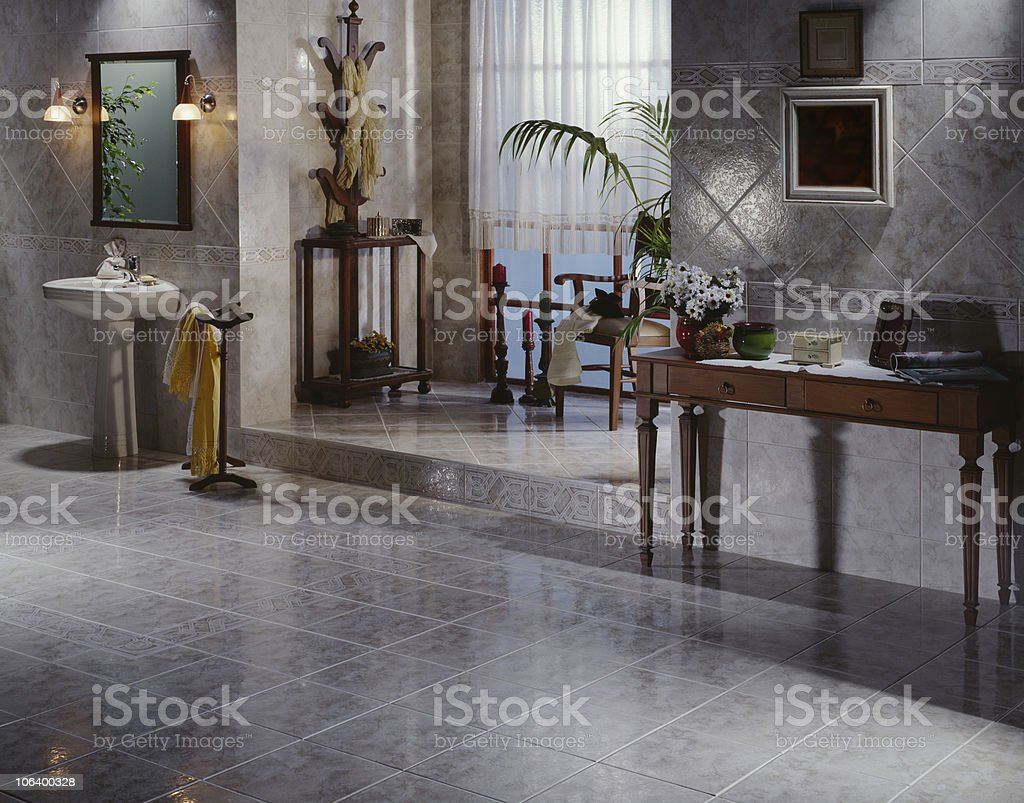 Foyer with lavabo stock photo