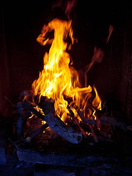 Fireplace_2 stock photo