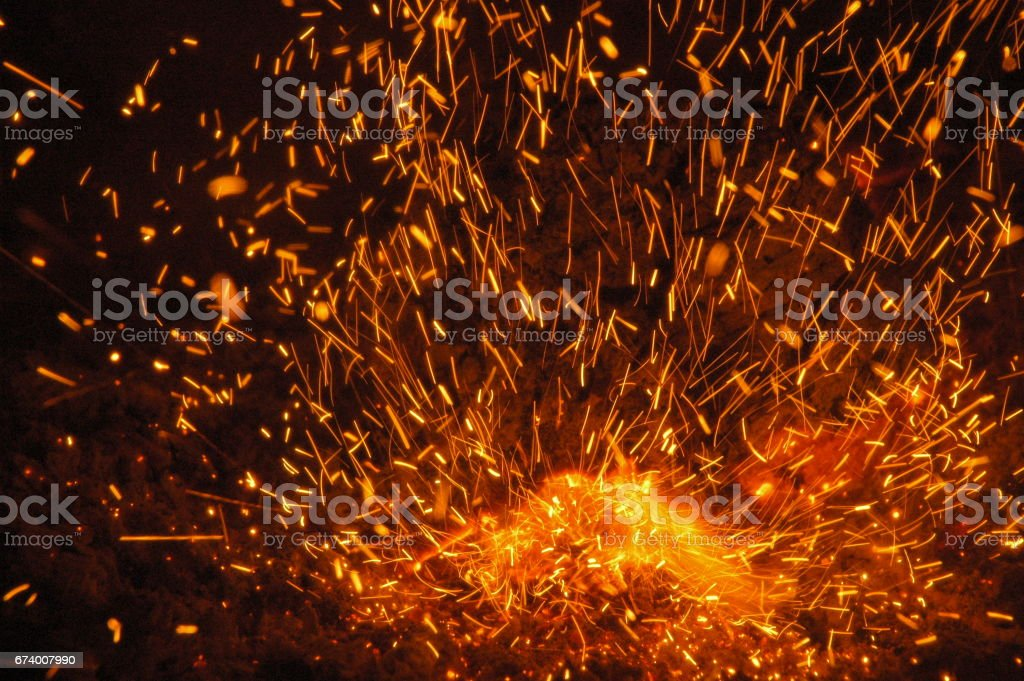 Kaminfeuer in Spanien royalty-free stock photo
