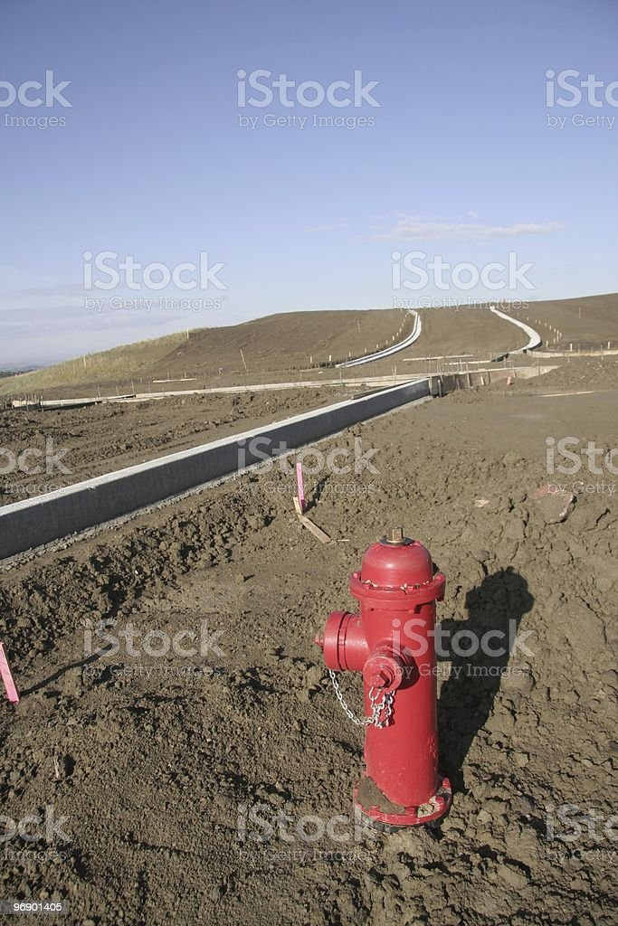 Fireplug in new subdivision royalty-free stock photo