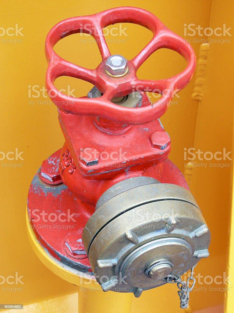 Firepost royalty-free stock photo