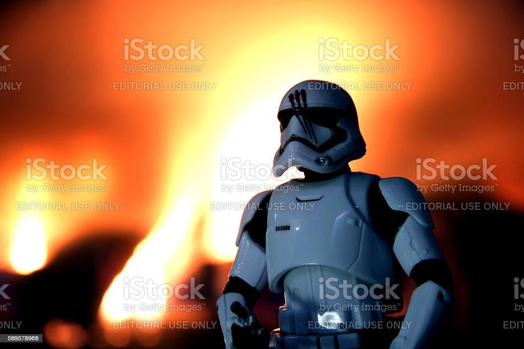 Fires of Treachery stock photo